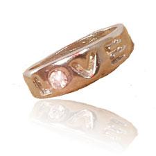 خرید اینترنتی حلقه عشق نگین منشوری | بهترین هدیه برای همسر یا دوست دختر زیبای شما