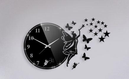 ساعت فرشته پروانه نگین دار