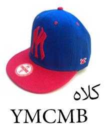 کلاه کپ با طرح YM آبی قرمز تحت لیبل YMCMB
