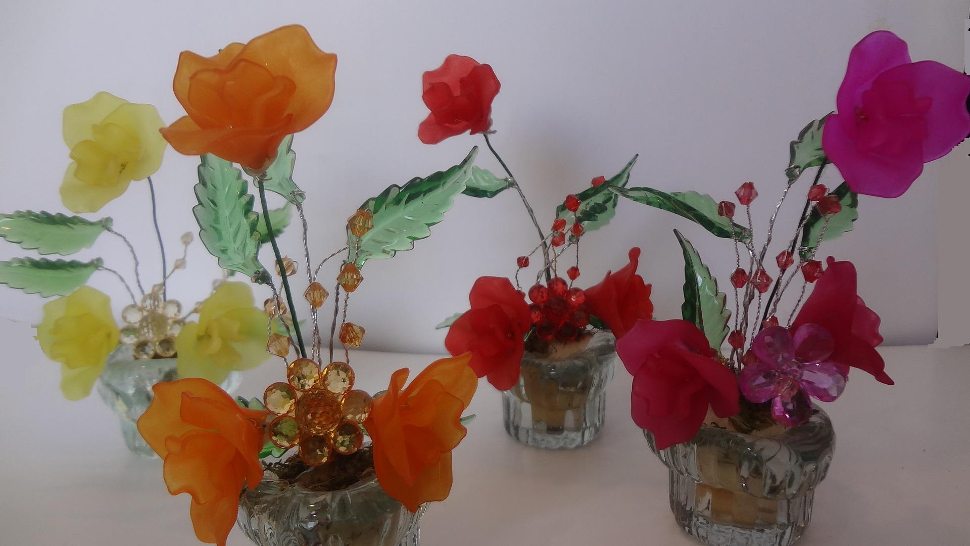 گلدان کریستالی کوچک