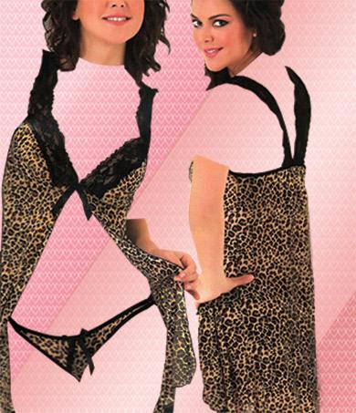 لباس خواب جلوباز پلنگی 7290