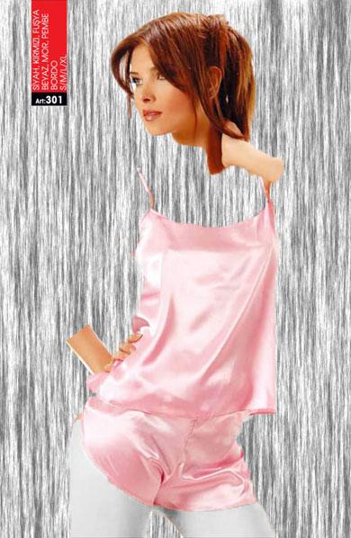 لباس خواب ساتن sistina کد۳۰۱