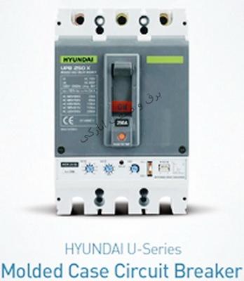 کلید اتوماتیک کمپکت غیر قابل تنظیم 3 پل  20 تا 100 آمپر هیوندا کره