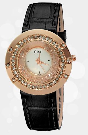 ساعت کریستال dior  با ظاهري جالب و كيفيتي بي نظير و فوق العاده شيک  ساعتي با ظاهري متفاوت، مدرن و همچنين بادوام