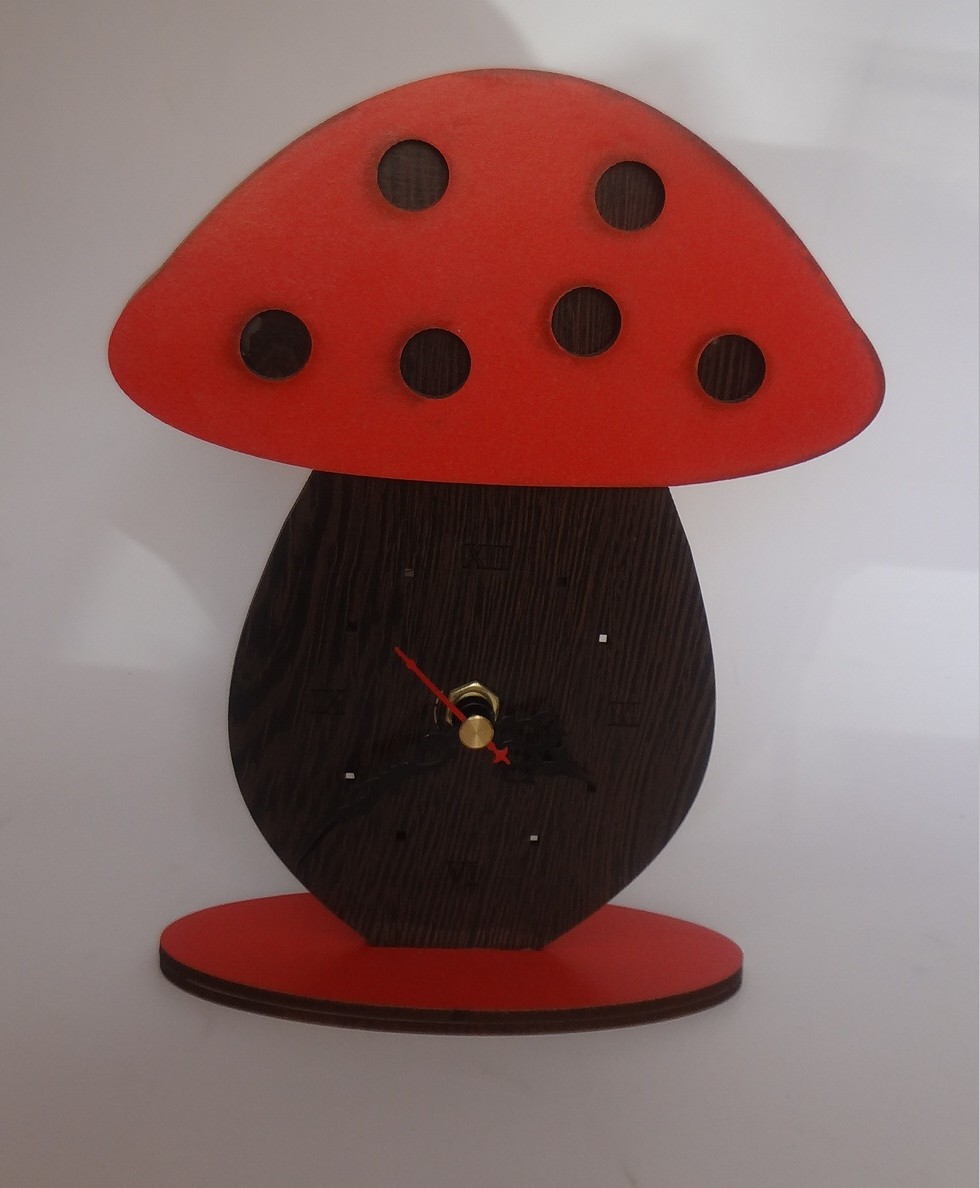 ساعت رو میزی قارچی