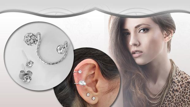 گوشواره نگینی لاله گوش  جديدترين مدل سال 2014