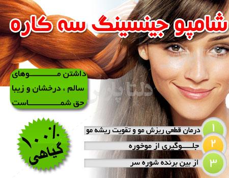 شامپو جنسینگ،تقویت ریشه مو