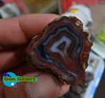 ژئود عقیق لایه ای برش خورده Banded Agate Geode IRAN