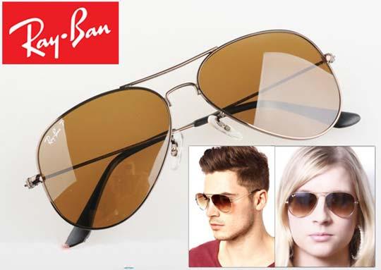 خرید عینک آفتابی ریبن شیشه قهوه ای درجه 1