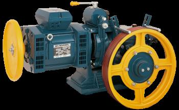 موتورگیربکس آسانسور مونتاناری تک سرعته ایتالیا -  5/5 کیلو وات- مدل ام 73 بدون یاتاقان