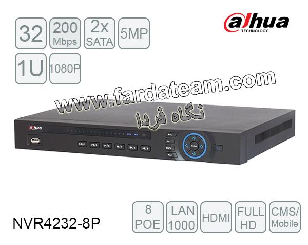 دستگاه NVR داهوا 32 کانال DH-NVR4232-8P