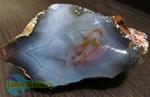 سنگ راف عقیق سلیمانی - باباقوری آبی اصل و طبیعی
