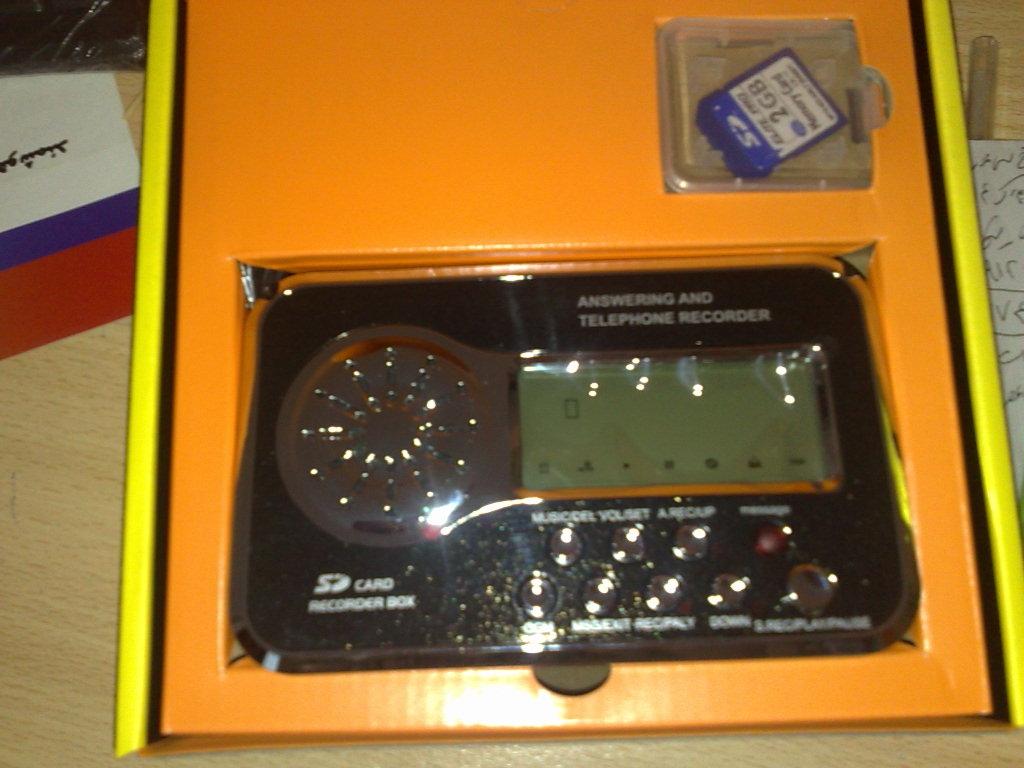 دستگاه ضبط تلفني ديجيتالي  منشي دارCID