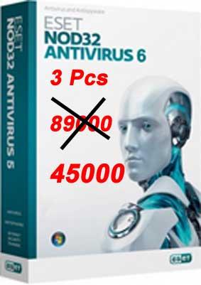 آنتی ویروس نود32 - 3 کاربره