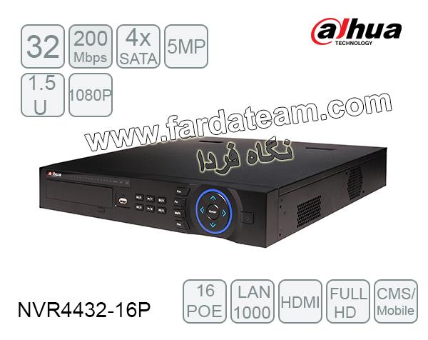 دستگاه NVR داهوا 16 کانال DH-NVR4432-16P