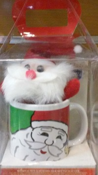 لیوان سفالی طرح بابانوئل+عروسک