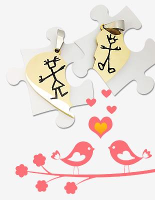 خرید گردنبند پازل عشق