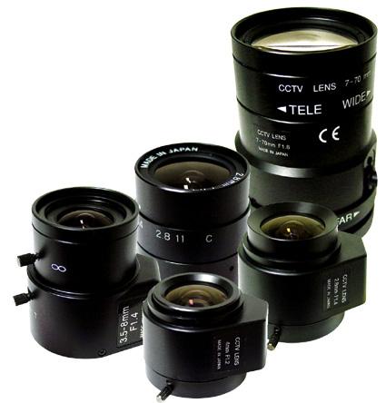 لنز های مورد استفاده در دوربین های امنیتی