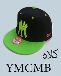 کلاه کپ با طرح YM مشکی سبز