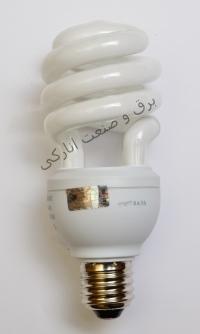 لامپ کم مصرف نیم پیچ نور صرام پویا