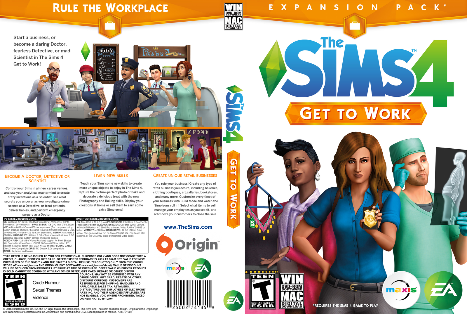 the sims 4 get to work ((تکی2000تومان عمده11000تومان(هر5عدد) ))