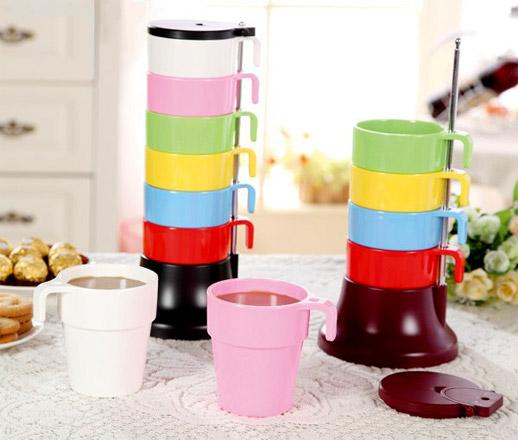 ست لیوان های رنگی Rainbow Cups Set
