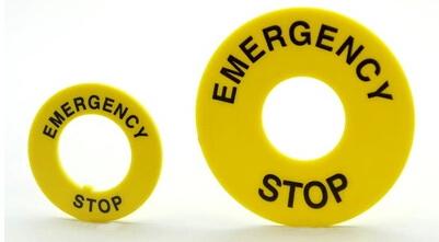 پلاک قارچی قفل شو  Emergency sign