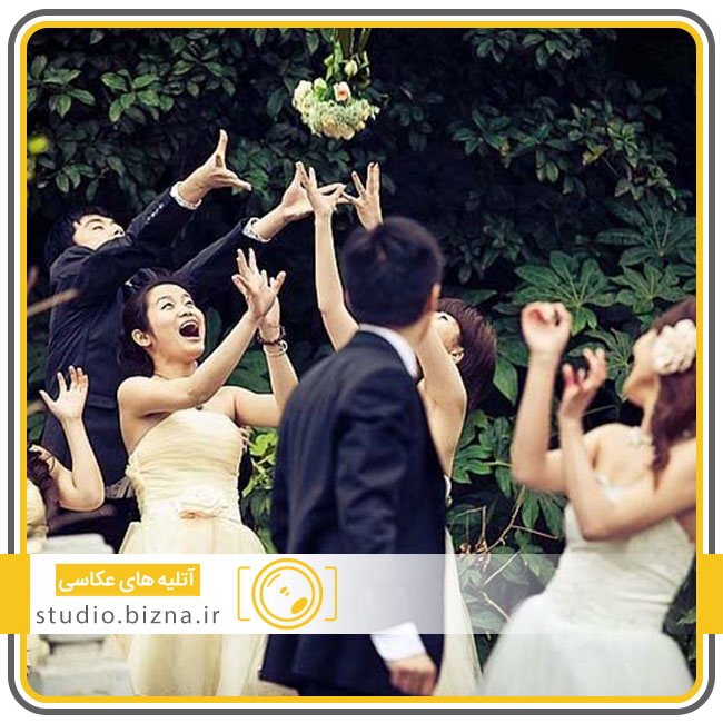 پرتاب دسته گل عروس