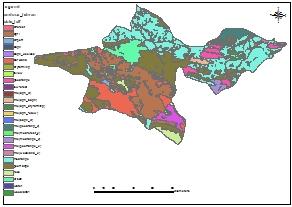 تلگرام بانک کشاورزی جی ای اس بانک - نقشه GIS کاربری اراضی استان تهران