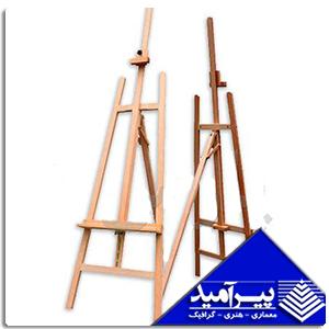 سه پایه تک شیار چوبی سفید