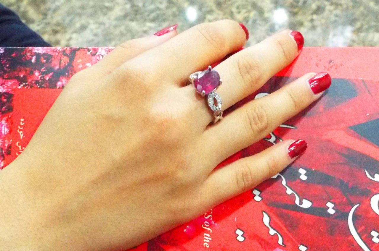 انگشتر عقیق قرمز