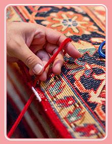 شیرازه و نواردوزی انواع فرش
