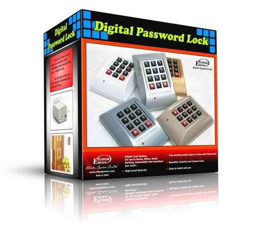 قفل رمزی دیجیتال با امنیت بسیار بالا به همراه مقابل برقی