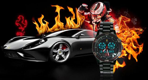 ساعت 2 زمانه طرح فراری Ferrari