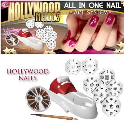 دستگاه طراحی ناخن hollywood nails  انجام طرح متنوع و زیبا و ظریف در هر زمان