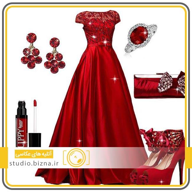 ست کردن لباس عروس با مدل جواهرات