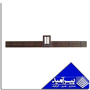 نرده 6/5 سانت قهوه اي با درب 1/100