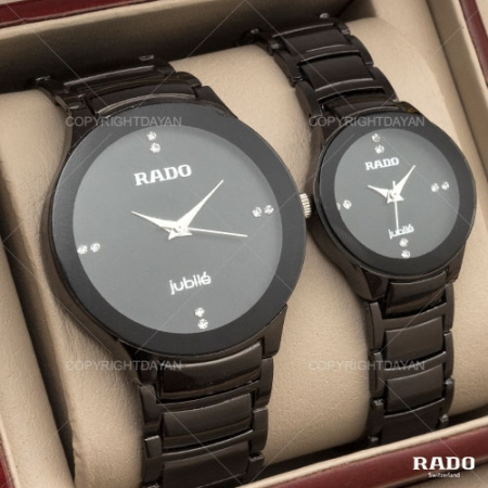 ست ساعت مردانه و زنانه Rado مدل jubile(مشکی)