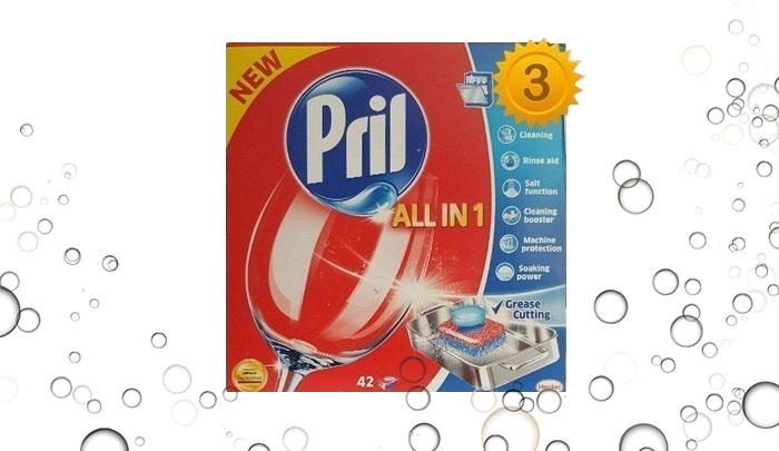 سه بسته قرص ماشین ظرفشویی پریل 42 عددی Pril - All in 1