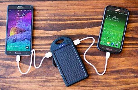 شارژر خورشیدی و پاوربانک - ضد آب و ضربه - باطری 5000