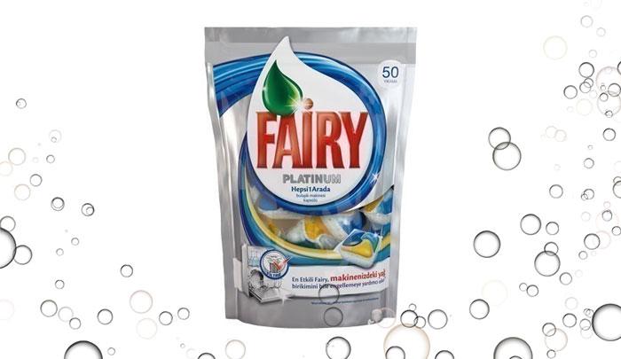 قرص ماشین ظرفشویی فیری platinum ترکیه 50 عددی - Fairy