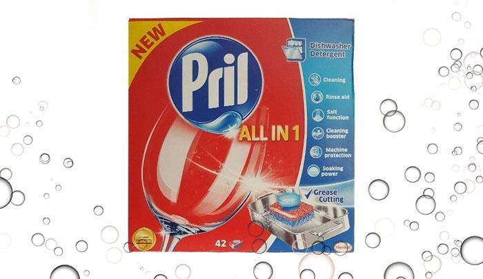 قرص ماشین ظرفشویی پریل 42 عددی Pril - All in 1