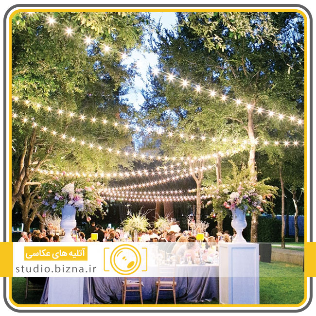 برگزاری عروسی در باغ تالار