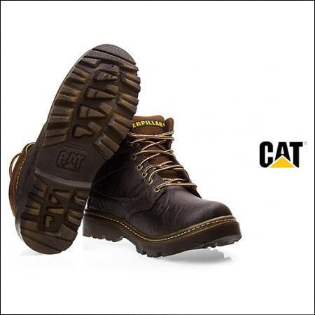 پوتین مردانه cat نیم بوت کاترپیلار-caterpillar