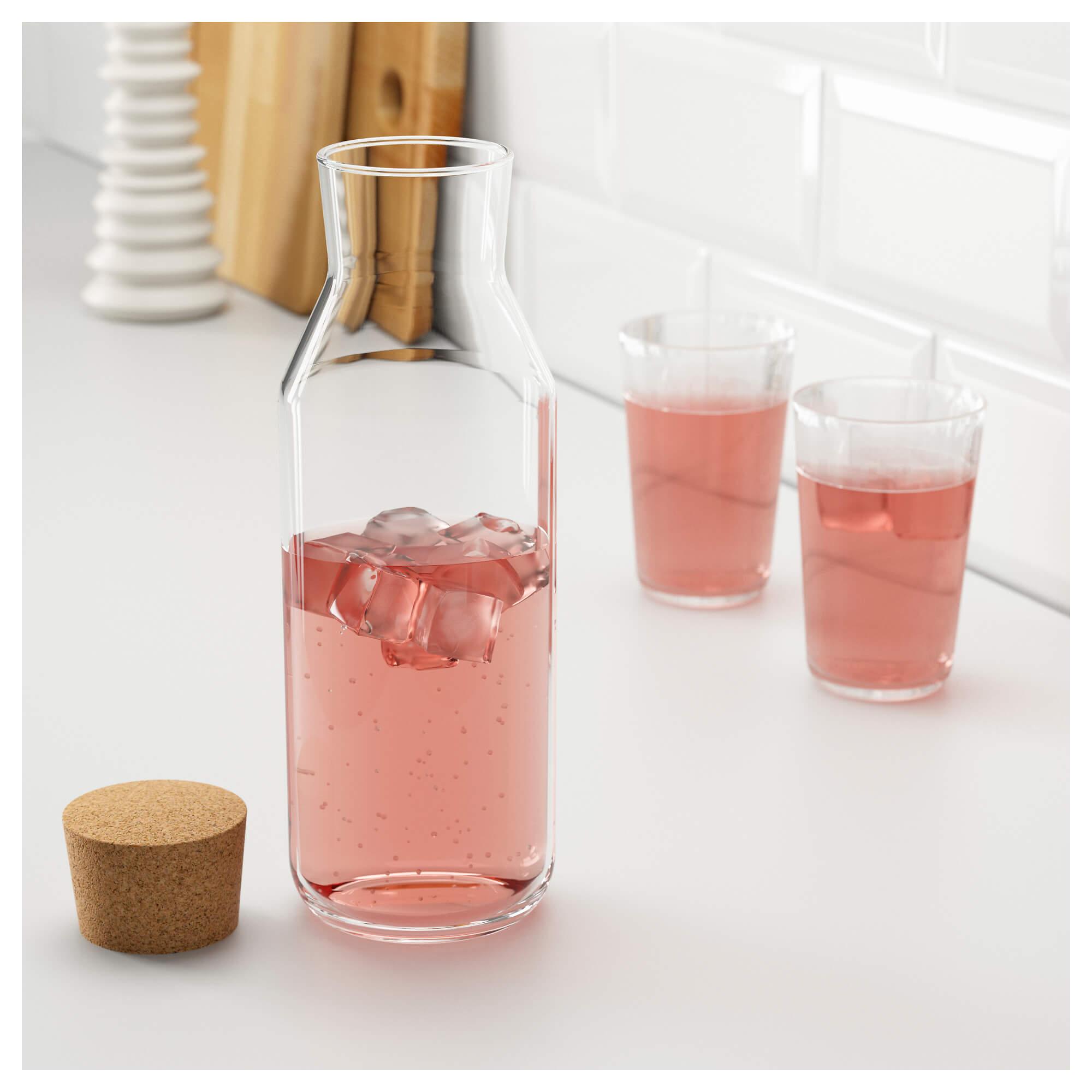 بطری شیشه ای طرح ایکیا
