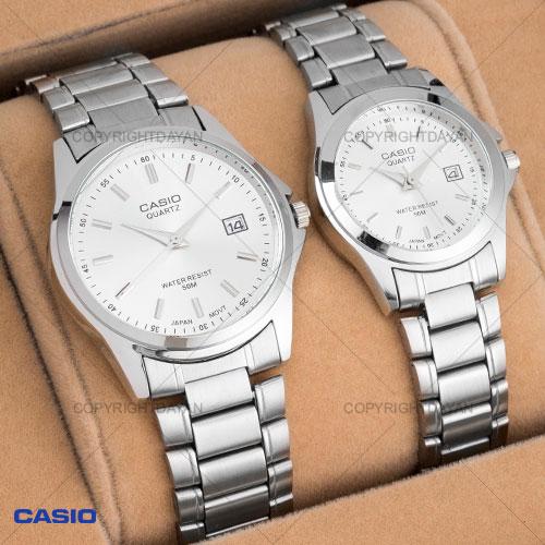 ست ساعت مردانه و زنانه Casio مدل Poliza(سفید)