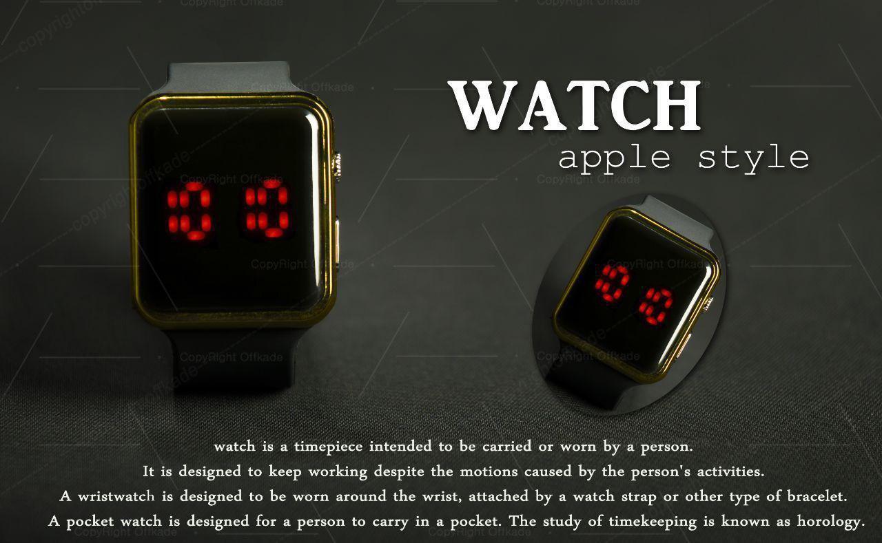 ساعت مچی طرح Apple Watch