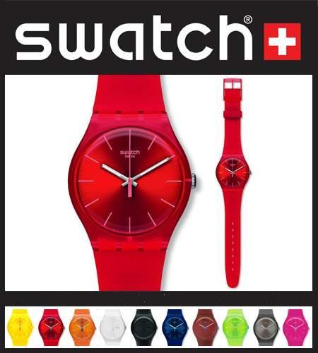 ساعت سواچ (swatch) رنگی