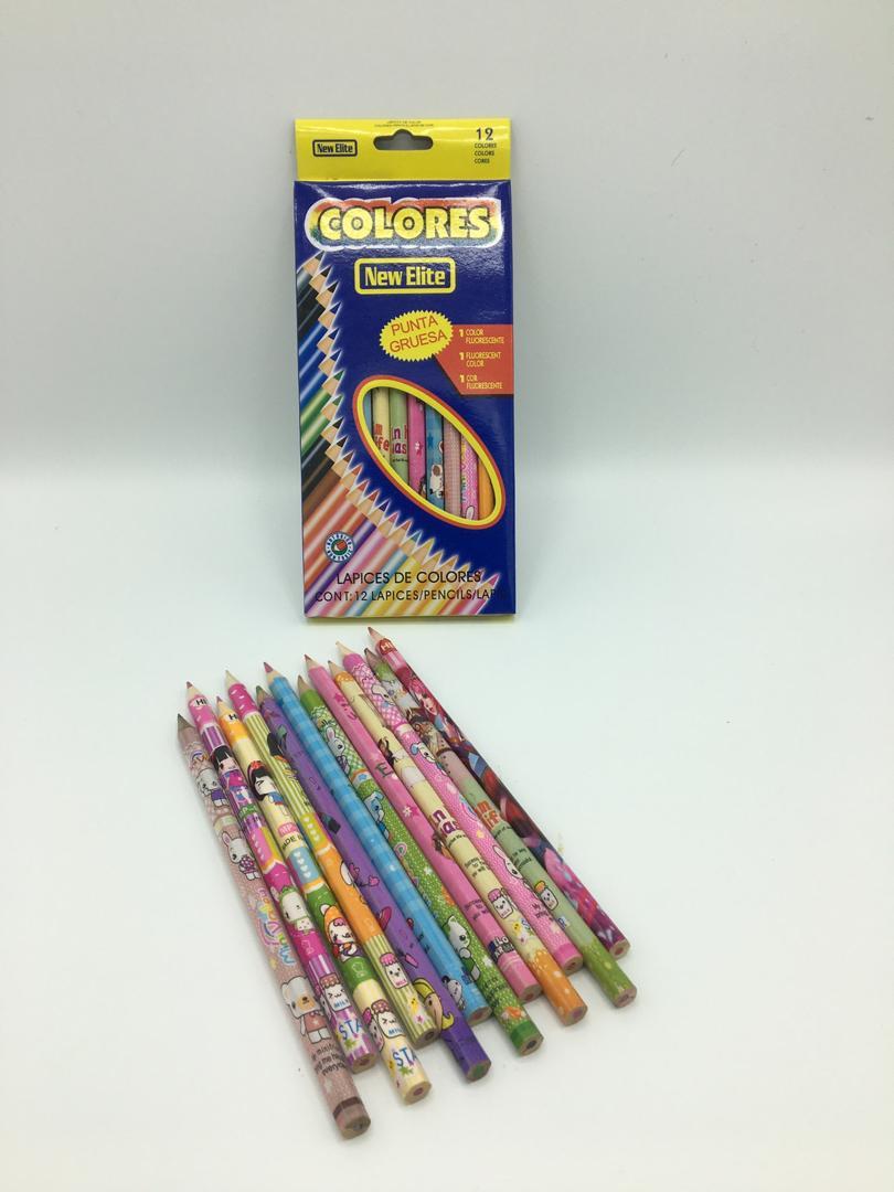 مداد رنگی 12 رنگ 2 سری colores مدل elite