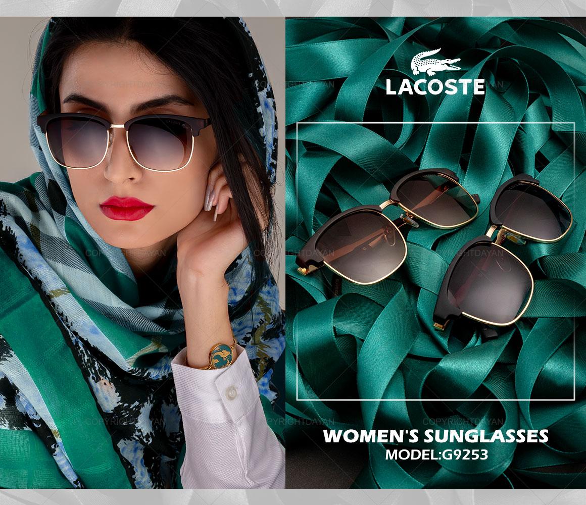 عینک آفتابی زنانه Lacoste